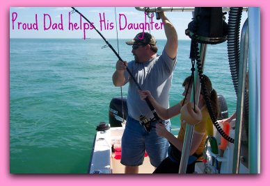 Kids are free with one adult on fat cat fishing charters! Take a kid fishing today!