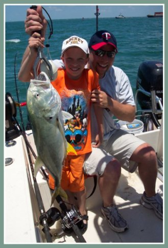 Florida fishing charters kids catch fish.