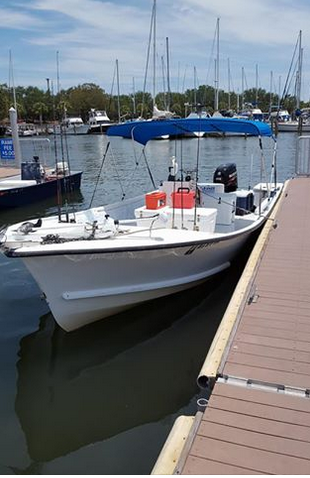 St Petersburg Fl fishing charters HANSON 24 FT BOAT